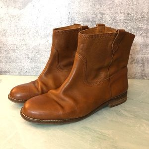 Madewell Otis leather bootie in cognac size 8